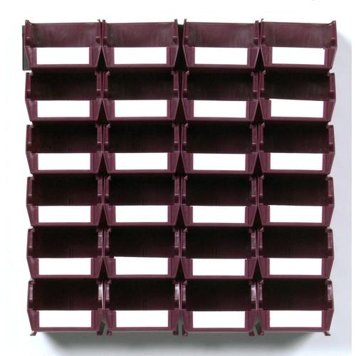 LocBin Wall Storage - Sm Raspberry Bins/Rails 26 CT