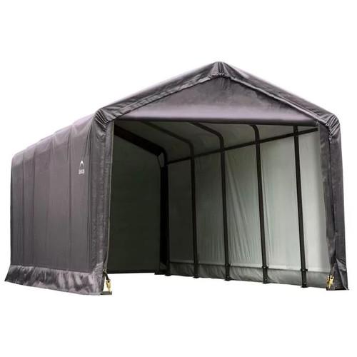 ShelterLogic Outdoor Storage Sheds & Boxes ShelterLogic Steel ShelterTube [option : Garage 12 x 20 x 11 ft. Standard Grey - $1,727.49]