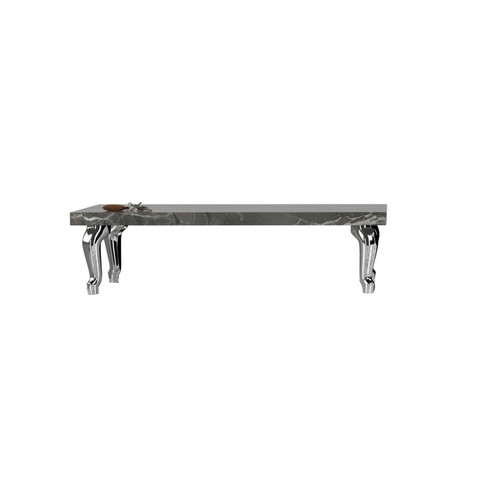 Bassotti Rectangle Coffee Table [Table Top : Grey Pietra; Legs : Low Legs (Set of 4)]
