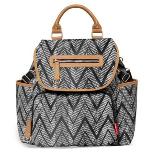 SKIP*HOP Grand Central Take it All Backpack Diaper Bag in Zebra Black