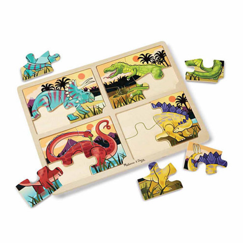 Melissa & Doug Dinosaurs Wooden Jigsaw Puzzle With Storage Tray (24 pieces)
