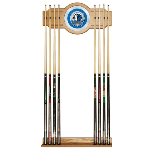 Trademark Global NBA6000-DM Dallas Mavericks NBA Billiard Cue Rack with Mirror