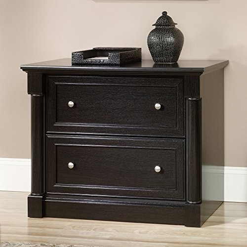 Sauder Avenue Eight 2 Drawer File Cabinet in Wind Oak [Black]