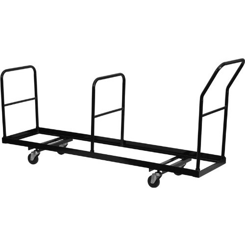 Flash Furniture Vertical Storage Folding Chair Dolly - 35 Chair Capacity [Black, 4 inch]
