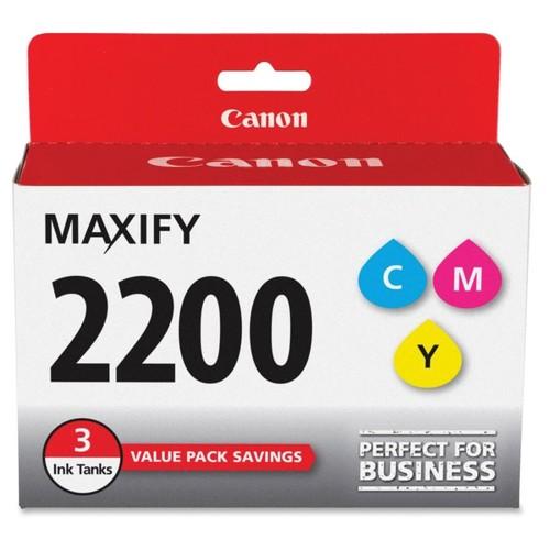 Canon PGI-2200 CMY Original Ink Cartridge - Inkjet - Standard Yield - 700 Pages (Per Cartridge) - Cyan, Magenta, Yellow - 3 / Pack
