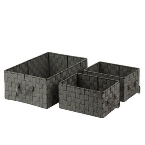 Honey-Can-Do General Purpose Organizer Kit with Handles Woven Fabric Basket Salt & Pepper