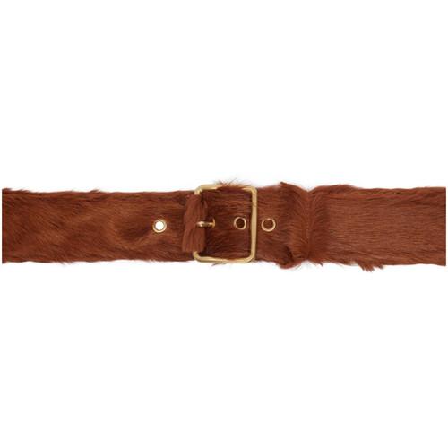 PRADA Brown Calf Hair Belt