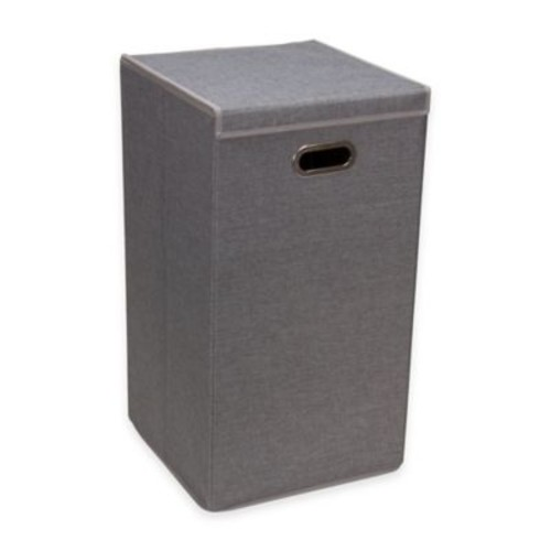 Household Essentials Collapsible Laundry Hamper in Grey