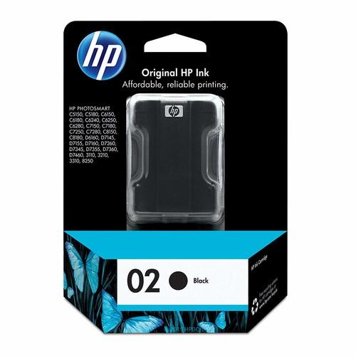 Hewlett Packard Office C8721WN#140 HP 02 Black Original Ink Cartridge For HP Photosmart 3110, 3210, 3310, 6580, 8250, C5140, C5150, C5180, C6150, C6180, C6185, C6240, C6250, C6280, C6286, C7150, C7180, C7250, C7280, C8150, C8180, D6160, D7145, D7155, D7160, D7245, D7255, D7260