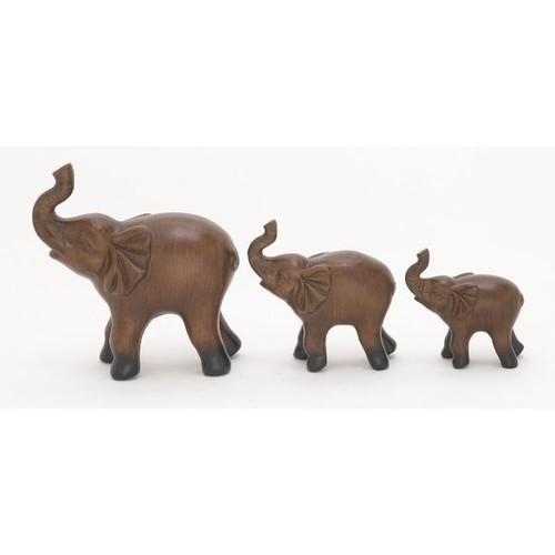 Charismatic Ceramic Elephant (Set Of 3)