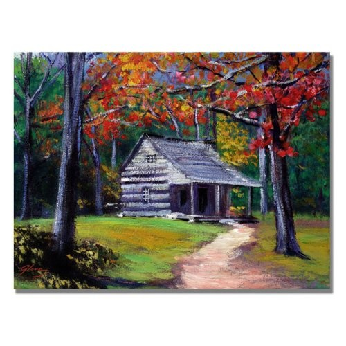 Cabin by David Lloyd Glover, 18x24-Inch Canvas Wall Art [18 by 24-Inch]
