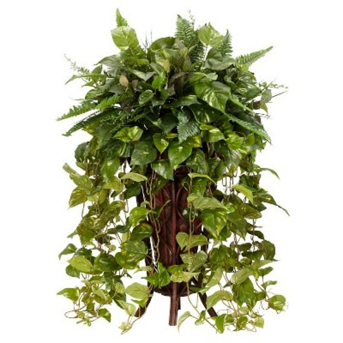 Vining Mixed Greens with Decorative Stand Silk Plant
