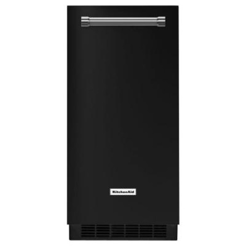 KitchenAid 15 in. 51 lbs. Built-In or Freestanding Ice Maker in Black