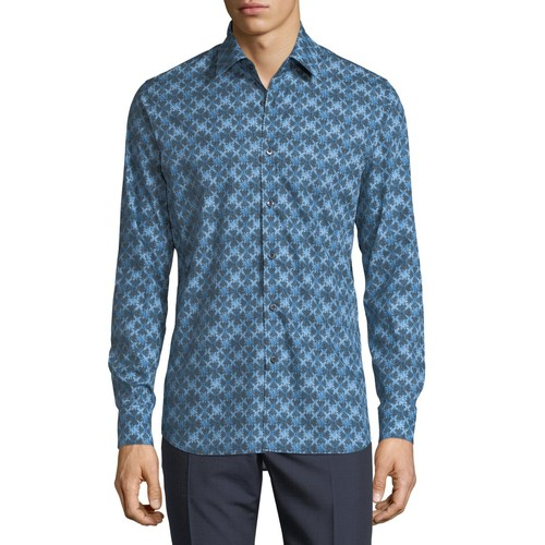 PRADA Kaleidoscope-Print Long-Sleeve Shirt