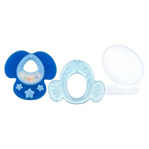 Nuby Softees Hard and Soft Teether Set - Boy (2 pack)