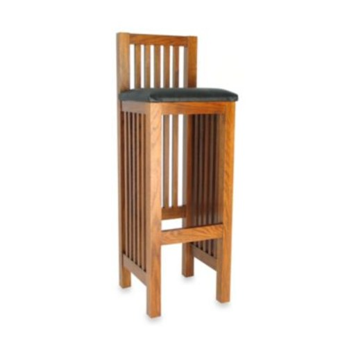Mission Bar Stool with Back