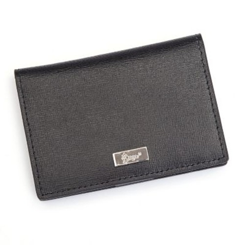 Royce Leather RFID Blocking ID Card Case Wallet, Genuine Leather, Black (RFID-421-BLK-2)