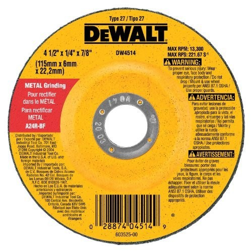 DEWALT DW4954 9-Inch by 1/4-Inch by 5/8-Inch-11 General Purpose Metal Grinding Wheel