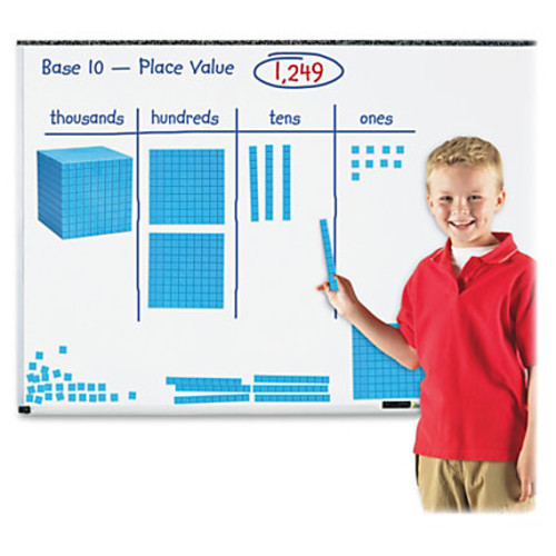 Learning Resources Giant Magnetic Base Ten Set - Skill Learning: Visual Interpretation - 121 Pieces