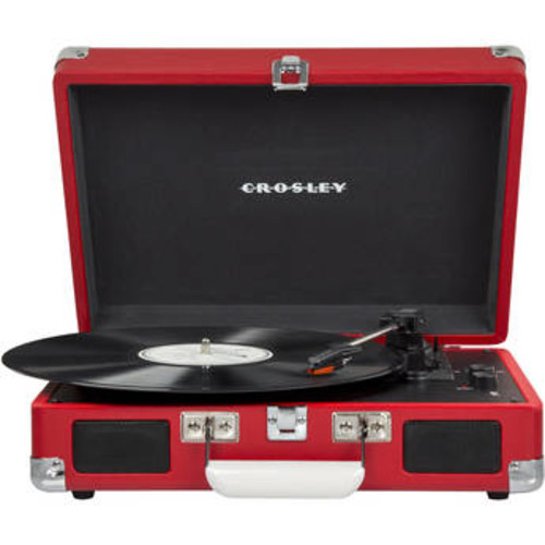 Cruiser Deluxe Portable Turntable (Red)