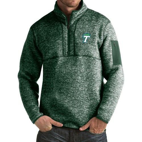Antigua Men's Tulane Green Wave Green Fortune Pullover Jacket