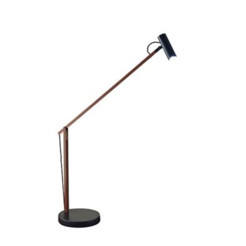 Adesso 33in Walnut Crane LED Desk Lamp