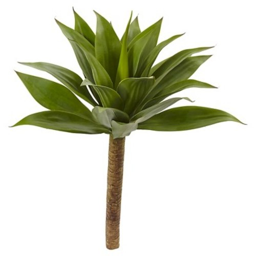 Nearly Natural 32 in. Agave Plant with Stem