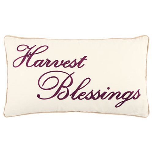 Rizzy Home Lucas Harvest Blessings Holiday Pillow