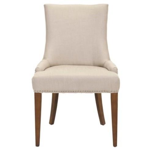 Becca 19''H Linen Dining Chair - Silver Nail Heads - Safavieh