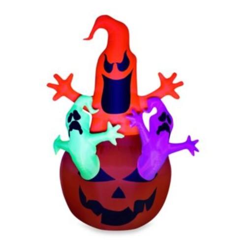 Airblown Inflatable Outdoor Pumpkin Jack Neon Ghost Trio