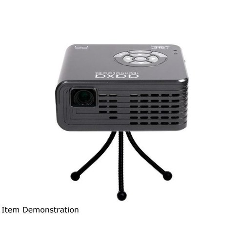 AAXA P5 720p HD Led Pico Projector, Removable 135 Minute Battery, 300 ANSI Lumen DLP Engine, Onboard Media Player & Speakers