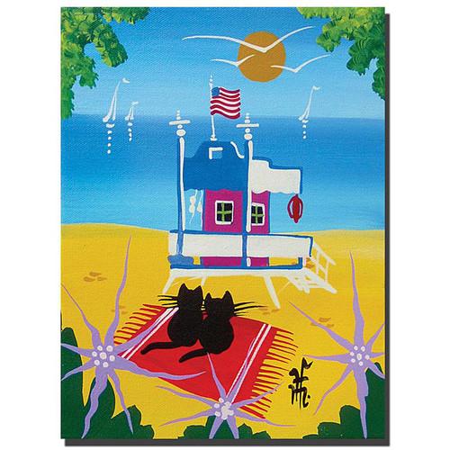Herbert Hofer 'The Beach' Gallery-wrapped Canvas Art