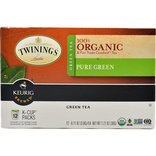 Twinings 100% Organic Pure Green Tea -- 12 K-Cups