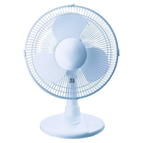 Pelonis Table Fan 12 in. H x 12 in. Dia. 3 speed Oscillating AC 3 blade White(FT30-13P)