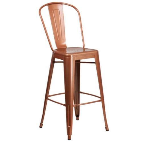 Flash Furniture 30'' High Copper Metal Barstool ET-3534-30-POC-GG [Pure Copper]