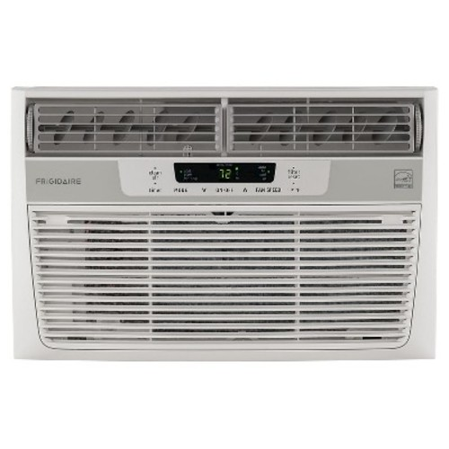 Frigidaire - 6000-BTU 115V Window-Mounted Mini-Compact Air Conditioner with Full-Function Remote - White