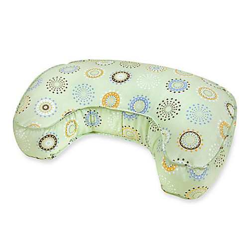 Leachco The Natural Original Contoured Nursing Pillow in Green Sunny Circles