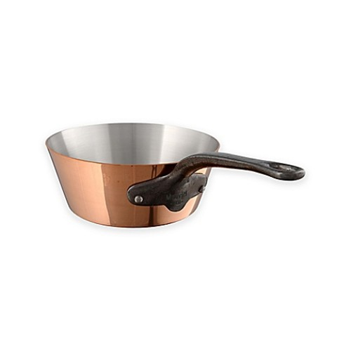 Mauviel 1830 M'250C Copper and Stainless Steel 1.2 qt. Splayed Saute Pan