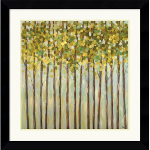 'Different Shades of Green' by Libby Smart Framed Painting Print