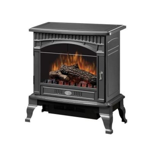 Dimplex Traditional 400 sq. ft. Electric Stove in Pewter