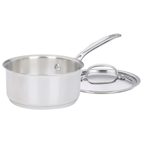 Cuisinart - Chef's Classic 1-Quart Stainless Saucepan - Stainless-Steel