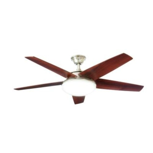 Home Decorators Collection Piccadilly 52 in. LED Indoor Brushed Nickel Ceiling Fan with Light Kit and Remote Control