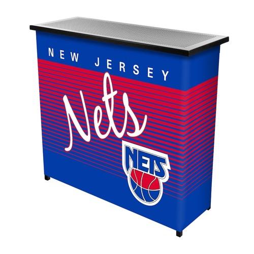 Jersey Nets Hardwood Classics 2-Shelf Portable Bar with Case