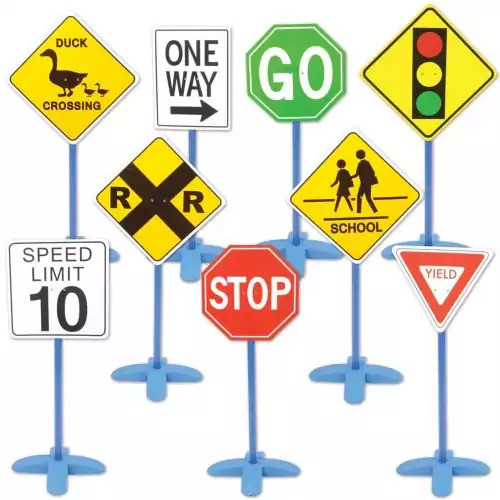 On the Go Traffic Signs (Set of 9)