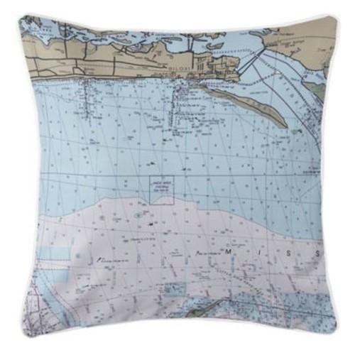 Longshore Tides Addyson Biloxi, MS Throw Pillow