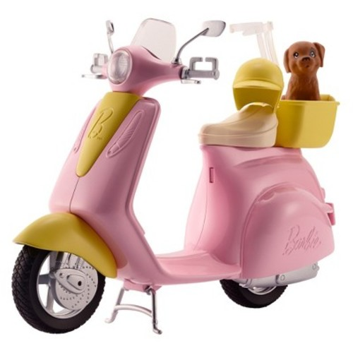 Barbie Moped Scooter Accessory with Puppy