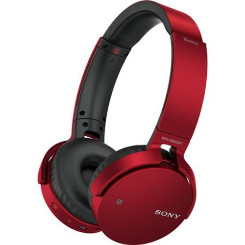 Sony EXTRA BASS Bluetooth Headphones - Red