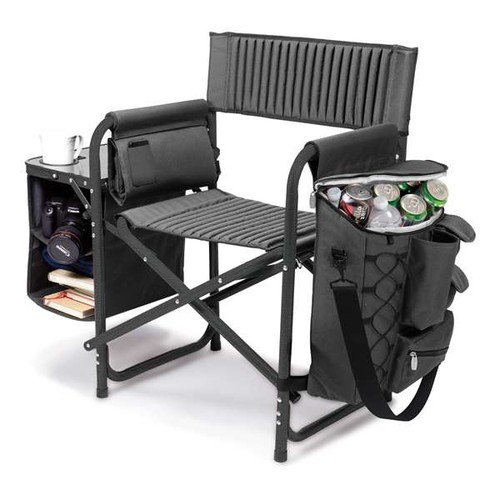 Picnictime Fusion Chair Dark Grey with Black