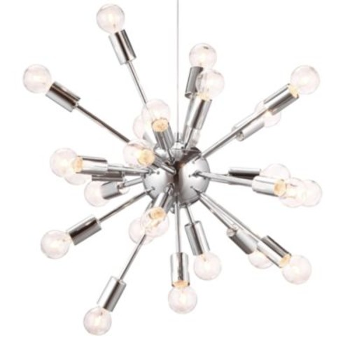 Zuo Accents Pulsar 24-Light Chrome Ceiling Lamp