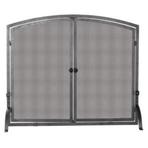 UniFlame Olde World Iron Single-Panel Fireplace Screen with Doors, Medium
